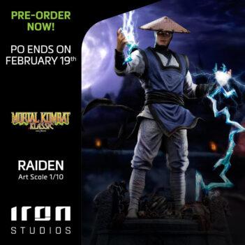 Mortal Kombat II Raiden 1/10 Art Scale Statue
