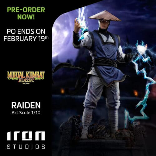 Mortal Kombat II Raiden 1/10 Art Scale Statue