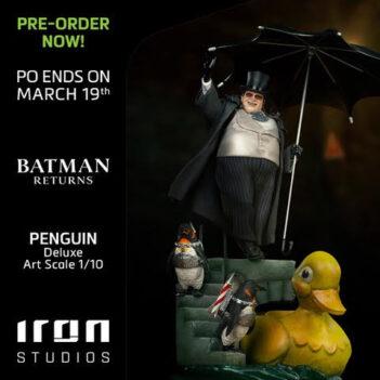 IRON STUDIOS Penguin Deluxe Art Scale 1/10 - Batman Returns PRE VENTA